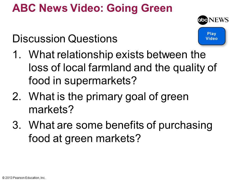 ABC News Video: Going Green