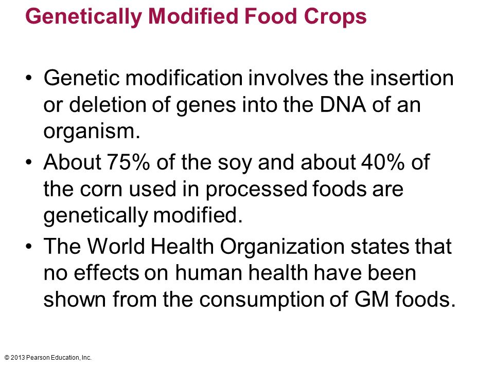 Genetically Modified Food Crops