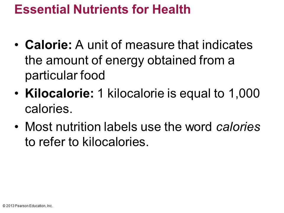 Essential Nutrients for Health