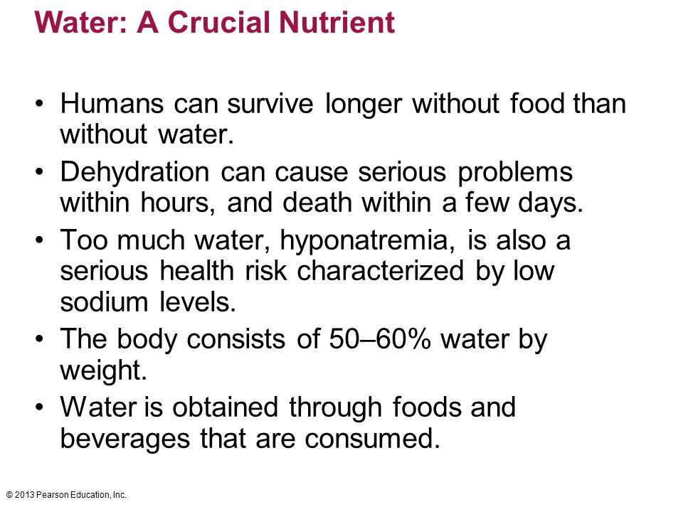 Water: A Crucial Nutrient
