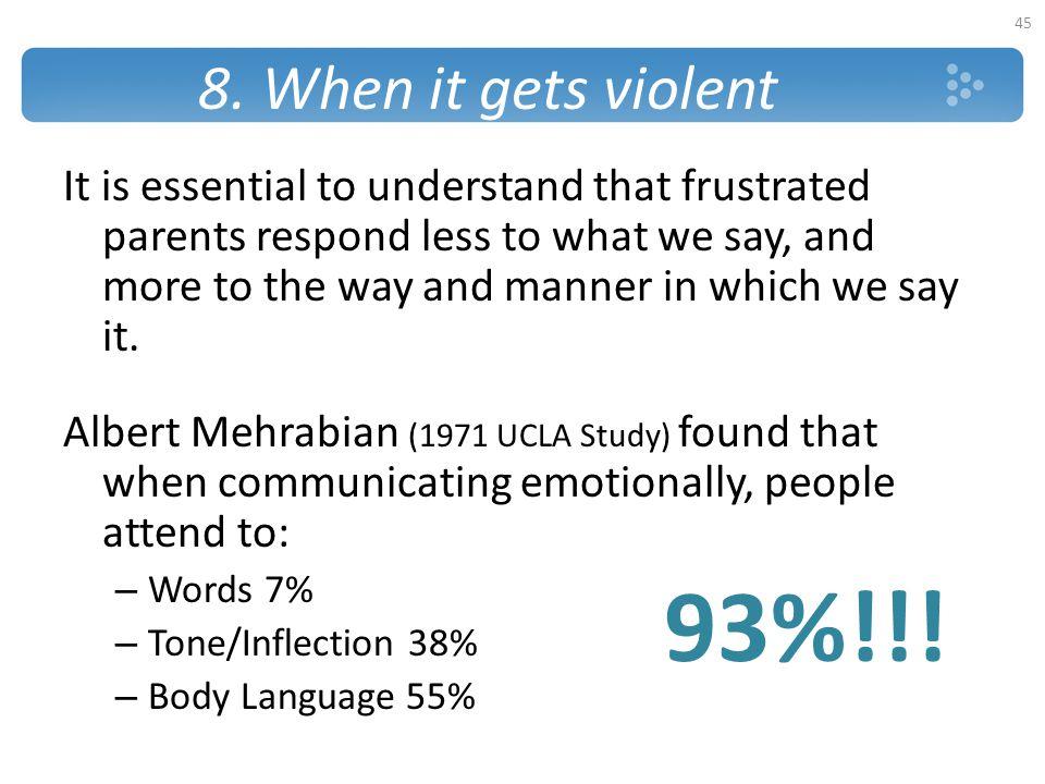 8. When it gets violent