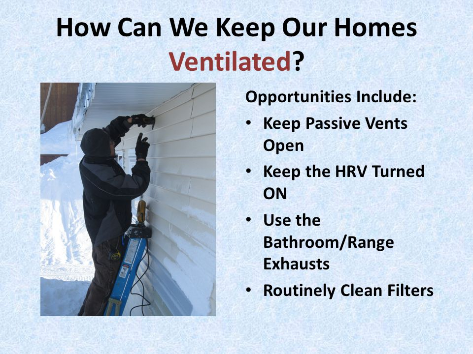 How Can We Keep Our Homes Ventilated