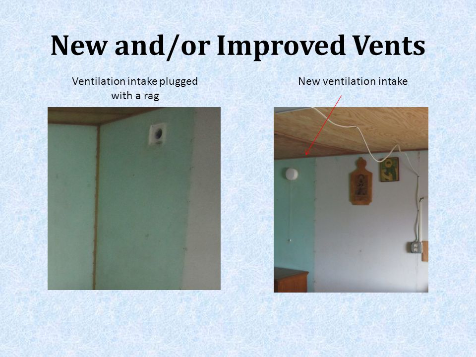 New and/or Improved Vents