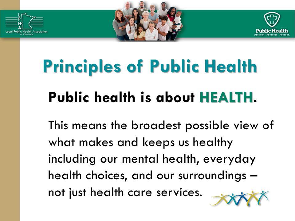 Principles of Public Health