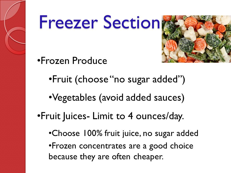 Freezer Section Frozen Produce Fruit (choose no sugar added )