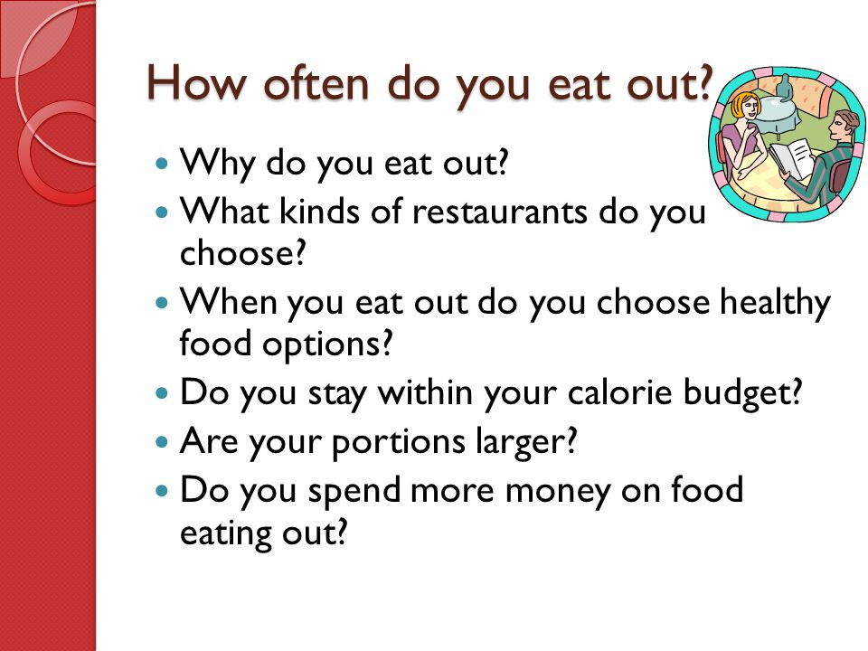 How often do you eat out Why do you eat out