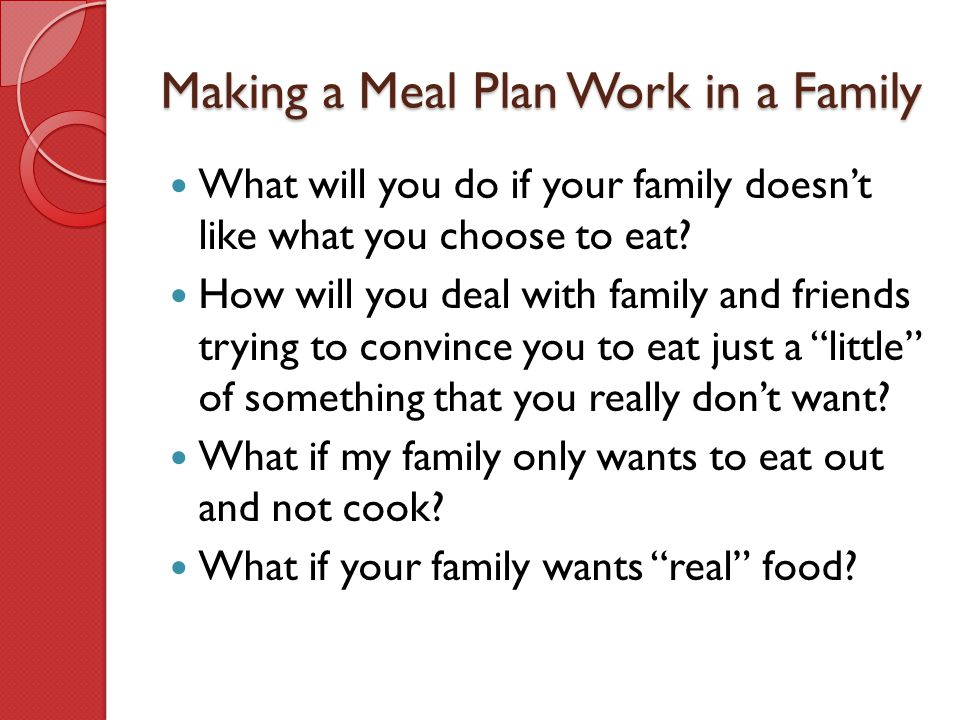 Making a Meal Plan Work in a Family