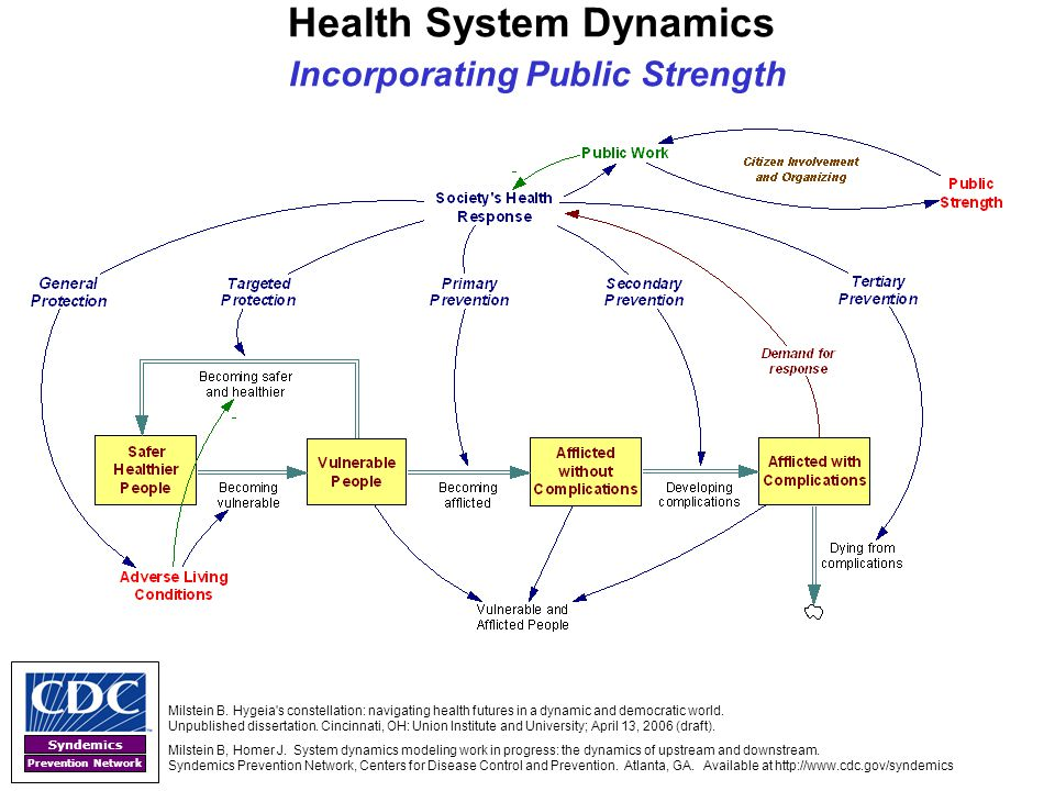 Health System Dynamics Incorporating Public Strength
