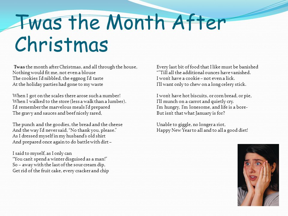 Twas the Month After Christmas