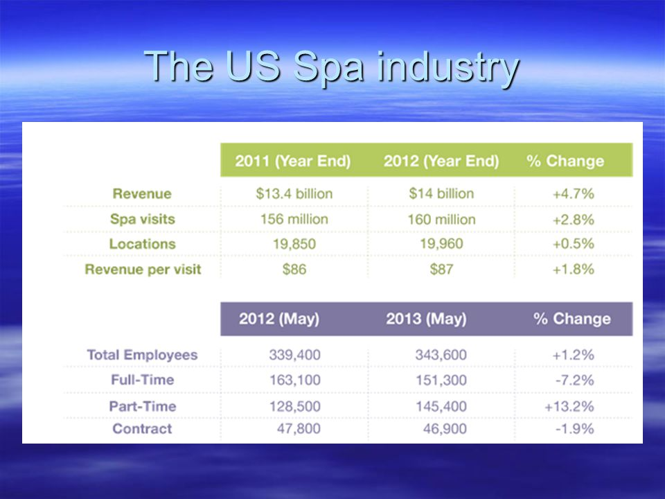 The US Spa industry