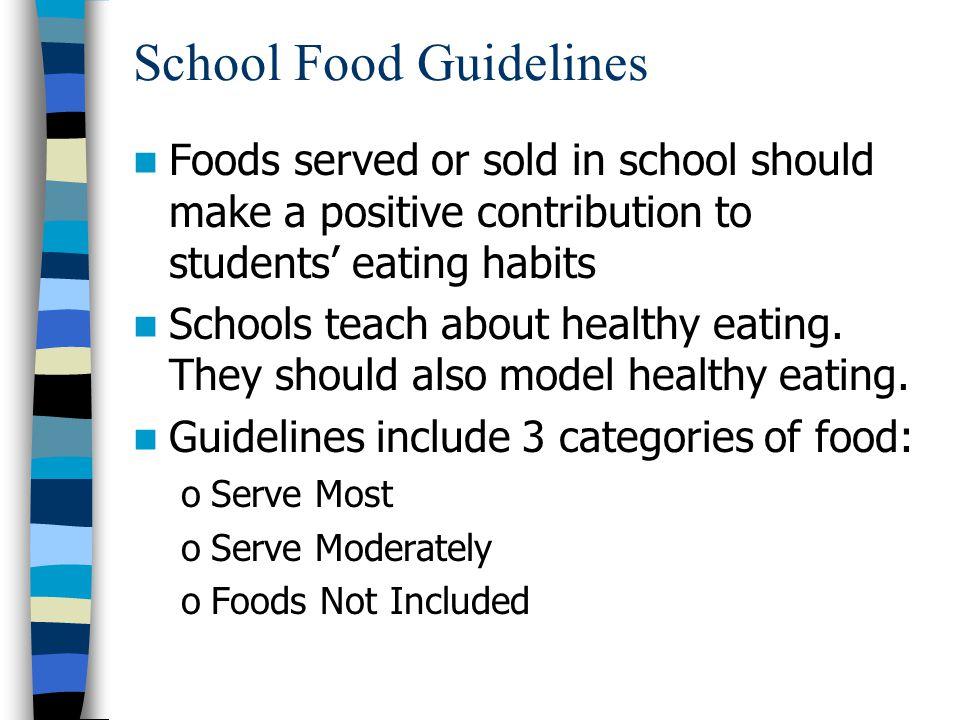 School Food Guidelines