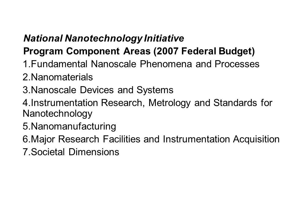 National Nanotechnology Initiative