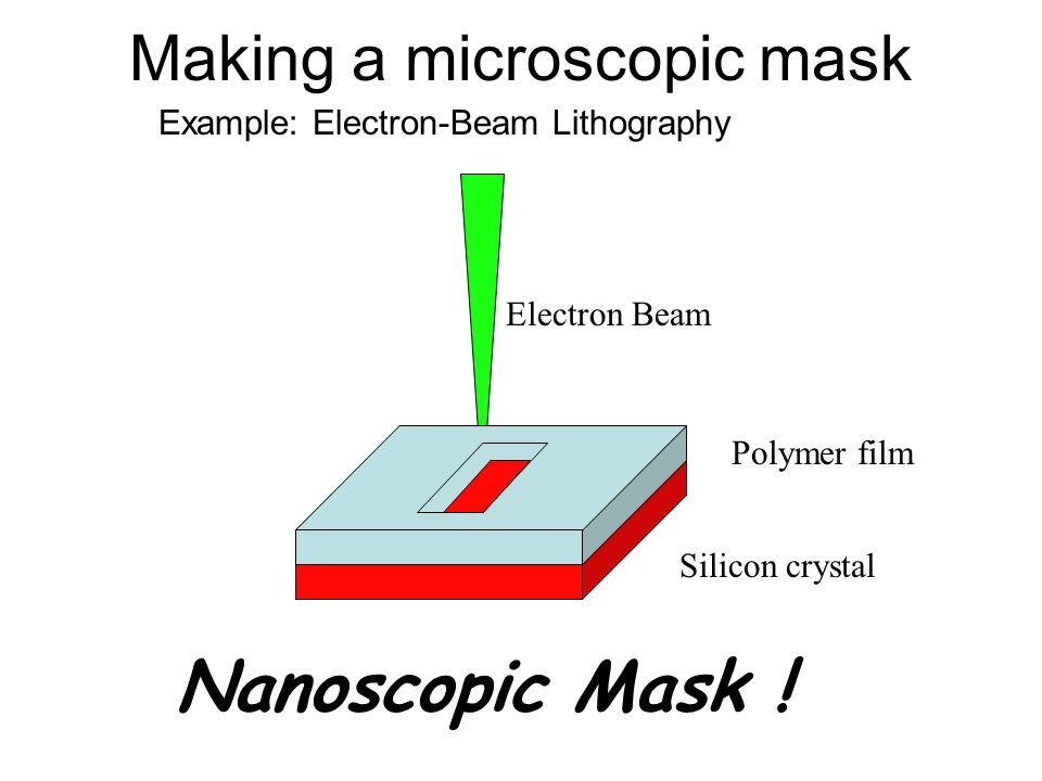 Making a microscopic mask