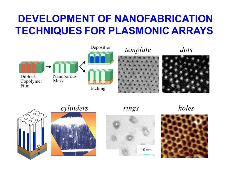 DEVELOPMENT OF NANOFABRICATION TECHNIQUES FOR PLASMONIC ARRAYS