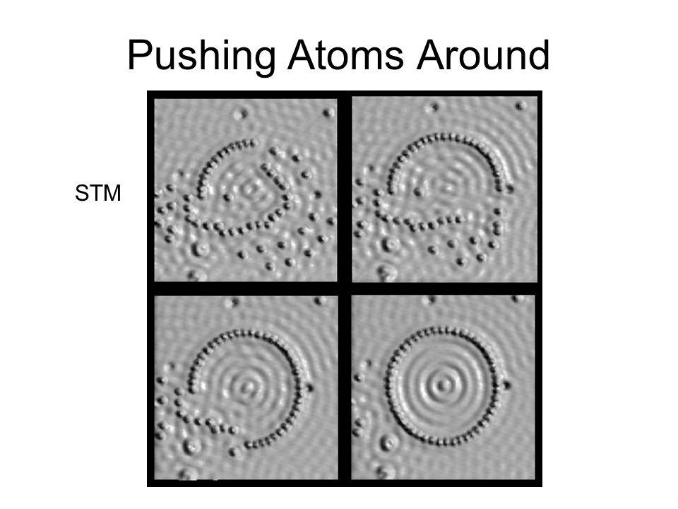 Pushing Atoms Around STM