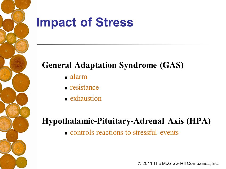 Impact of Stress General Adaptation Syndrome (GAS)