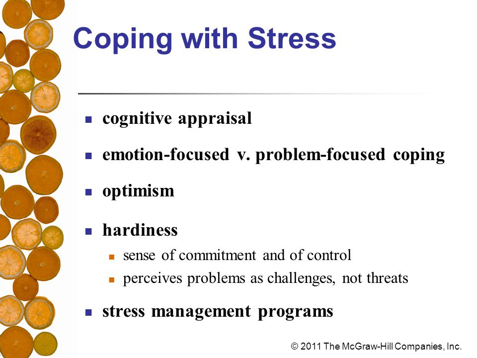 Coping with Stress cognitive appraisal