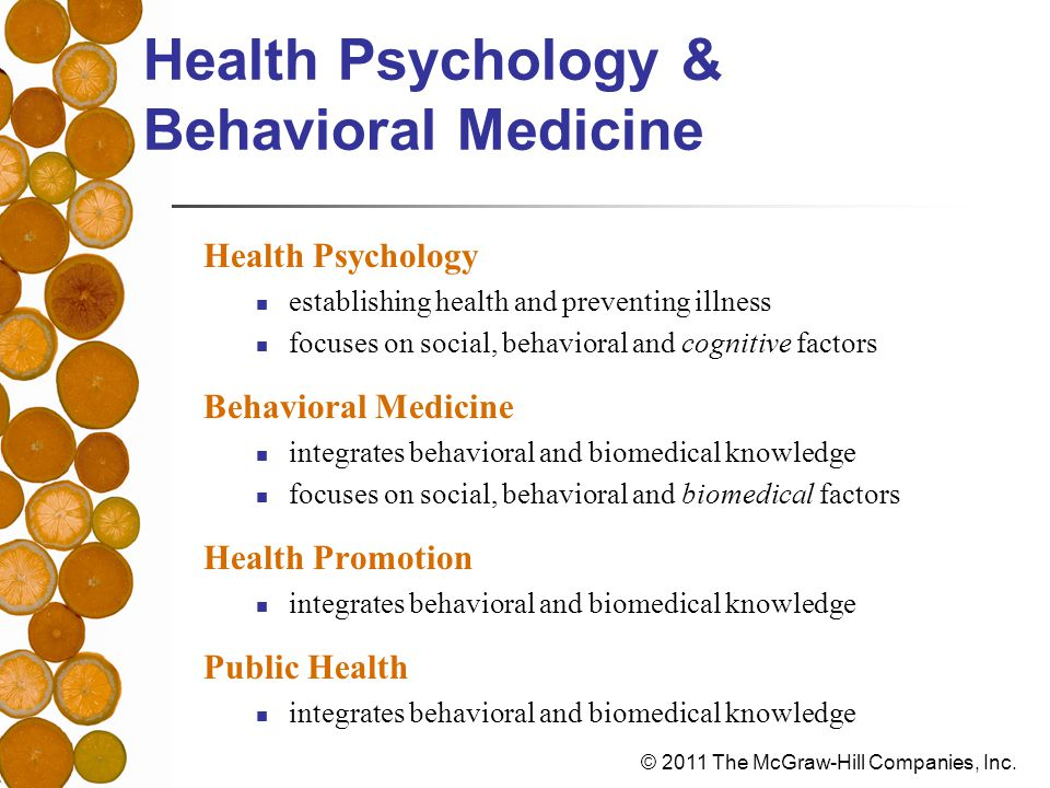 An Overview of Health Psychology