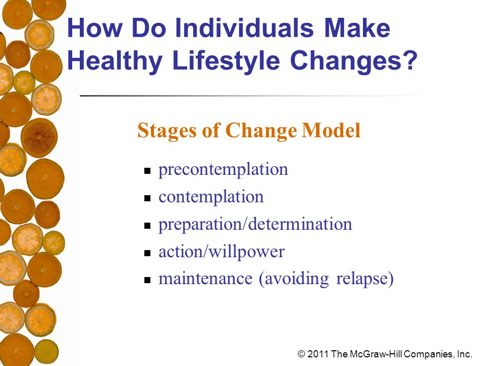 How Do Individuals Make Healthy Lifestyle Changes