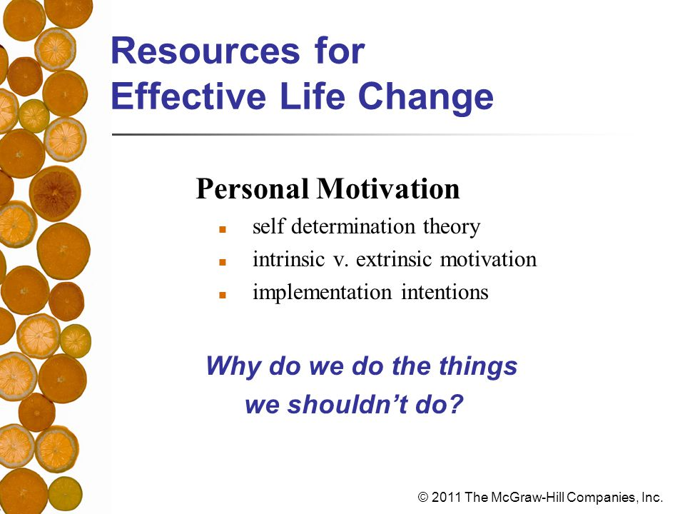 Resources for Effective Life Change