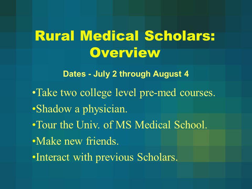 Rural Medical Scholars: Overview