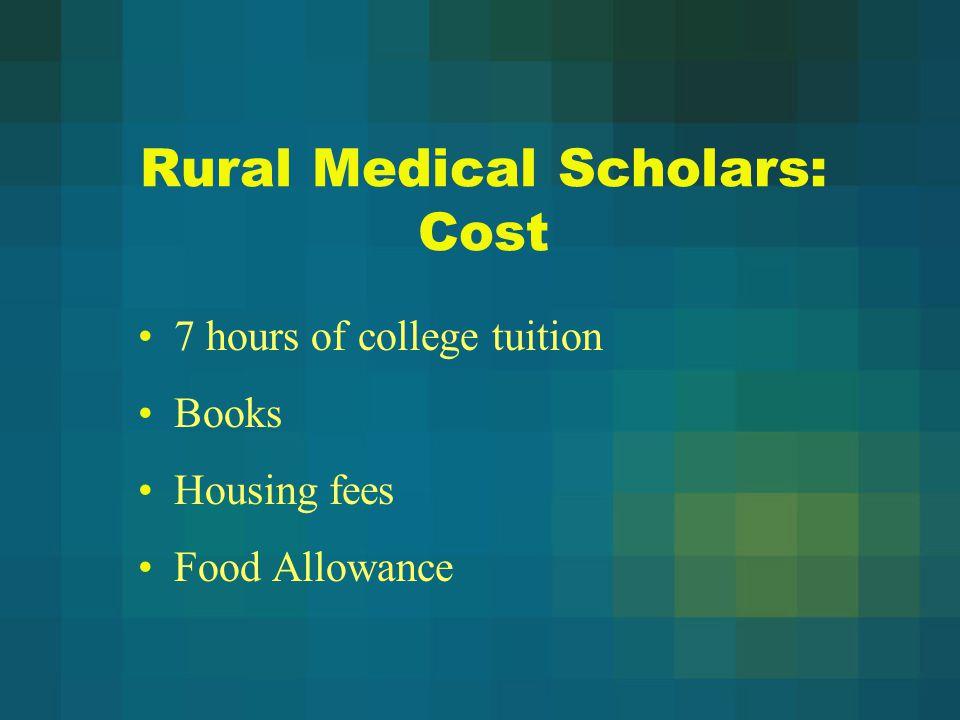 Rural Medical Scholars: Cost