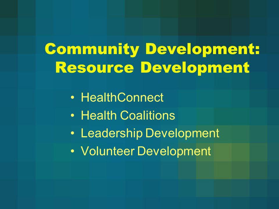 Community Development: Resource Development