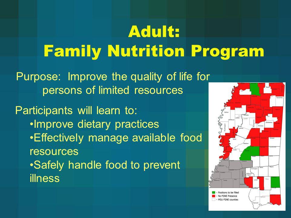 Adult: Family Nutrition Program