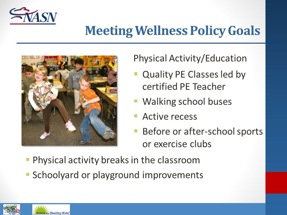 Meeting Wellness Policy Goals