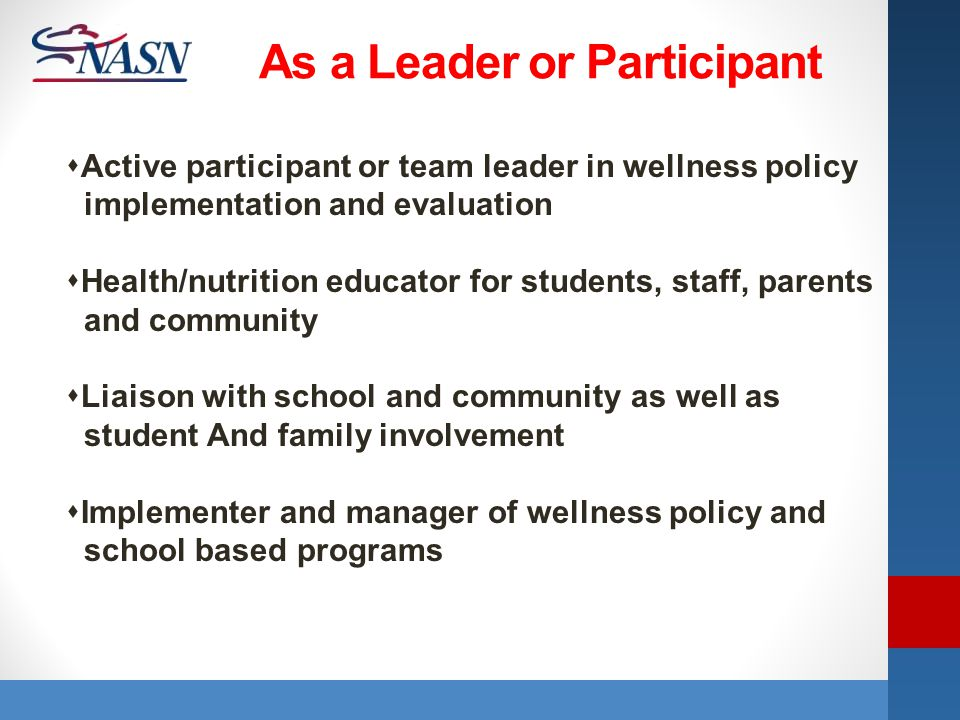 As a Leader or Participant
