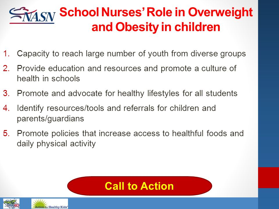 School Nurses' Role in Overweight and Obesity in children