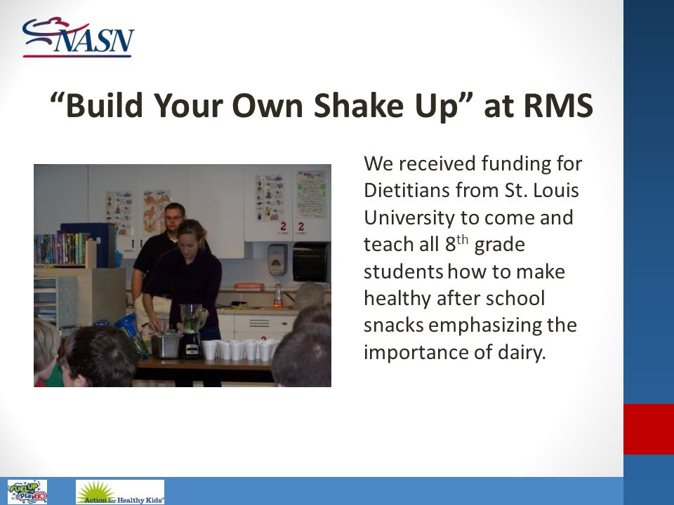 Build Your Own Shake Up at RMS