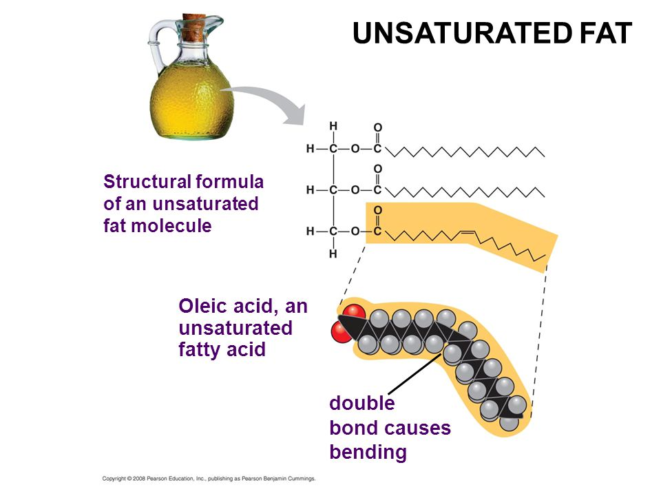 UNSATURATED FAT Oleic acid, an unsaturated fatty acid double