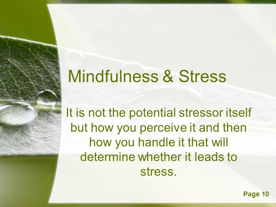 Mindfulness & Stress