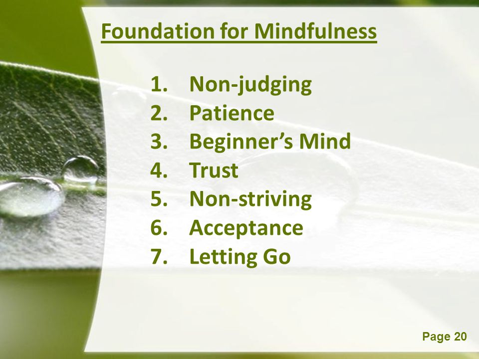 Foundation for Mindfulness