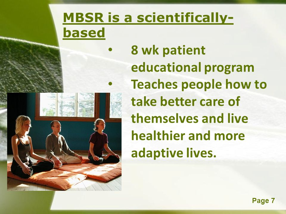 8 wk patient educational program