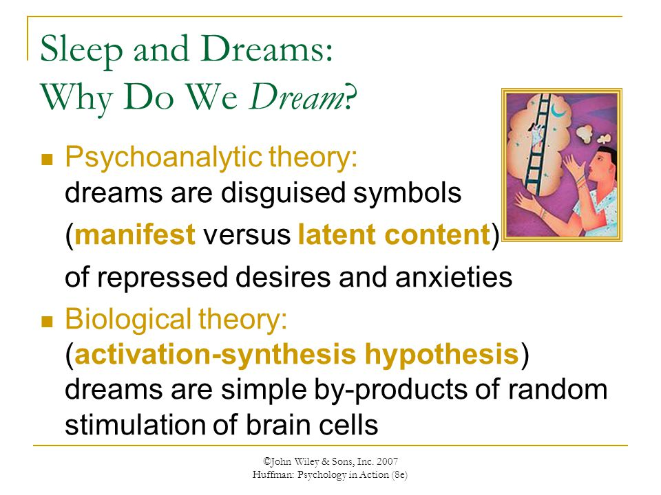 Sleep and Dreams: Why Do We Dream