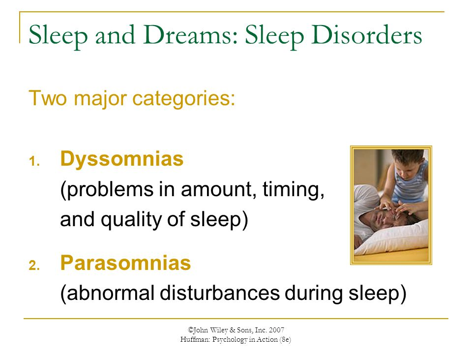 Sleep and Dreams: Sleep Disorders