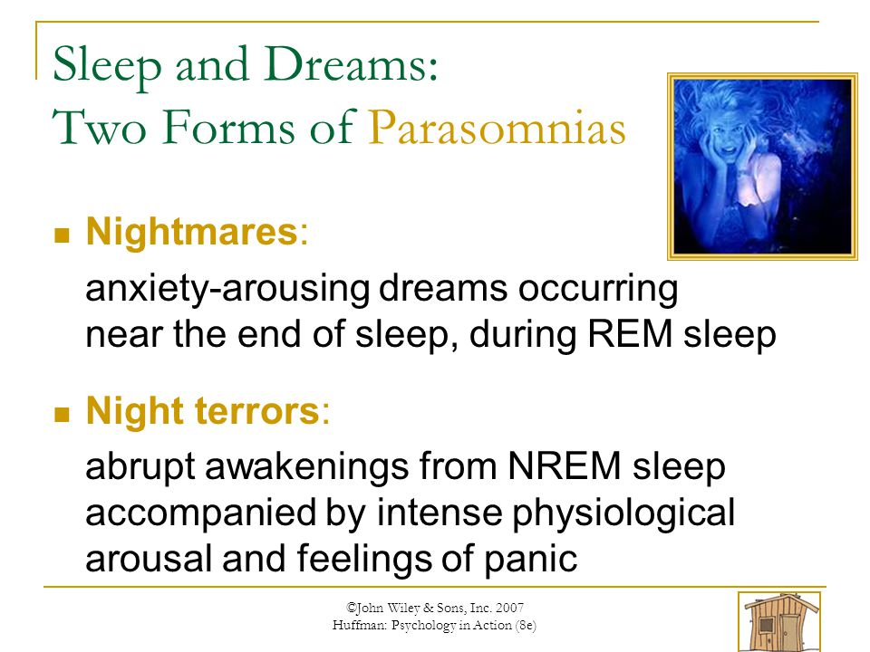 Sleep and Dreams: Two Forms of Parasomnias