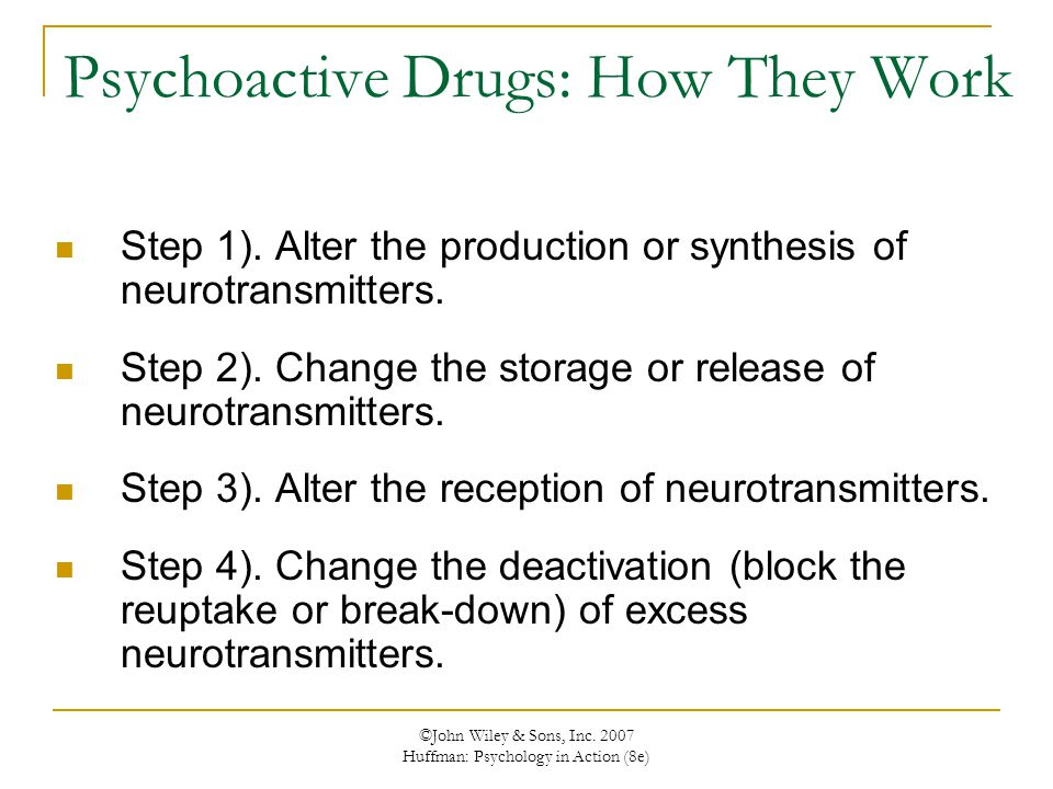 Psychoactive Drugs: How They Work