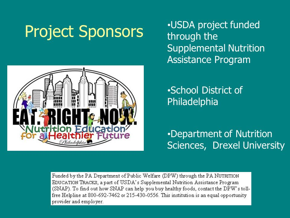 USDA project funded through the Supplemental Nutrition Assistance Program
