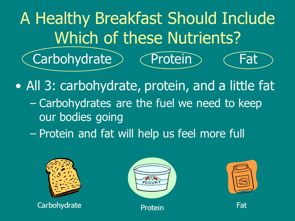 A Healthy Breakfast Should Include Which of these Nutrients