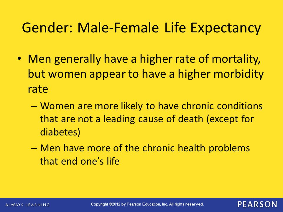 Gender: Male-Female Life Expectancy