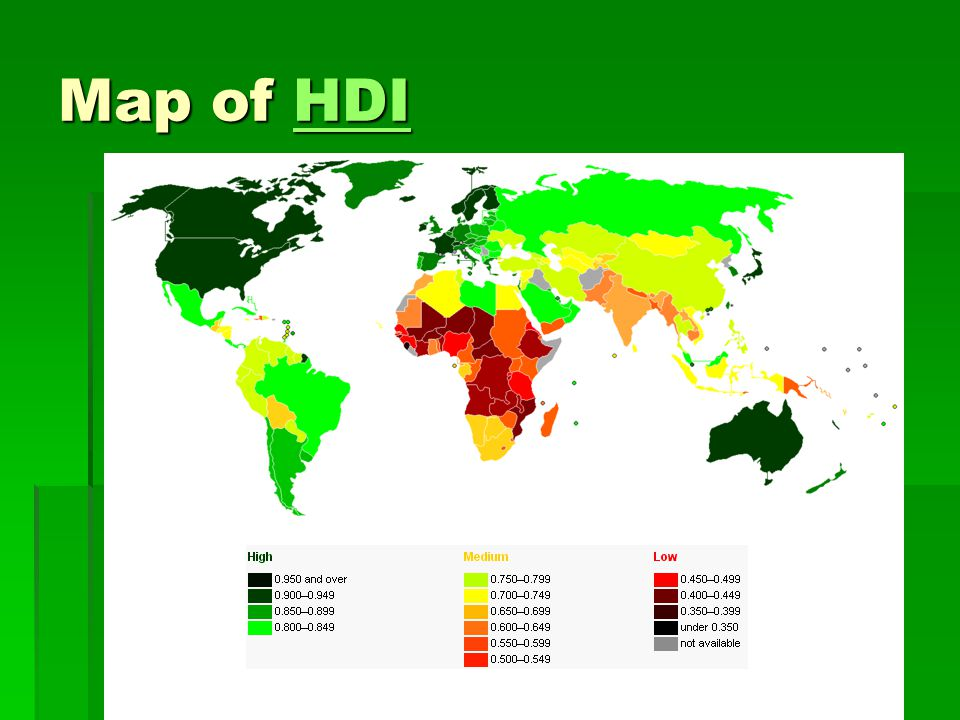 Map of HDI