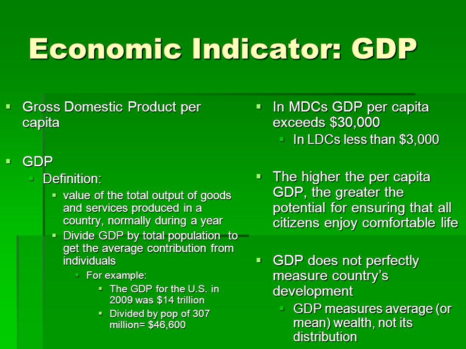 Economic Indicator: GDP