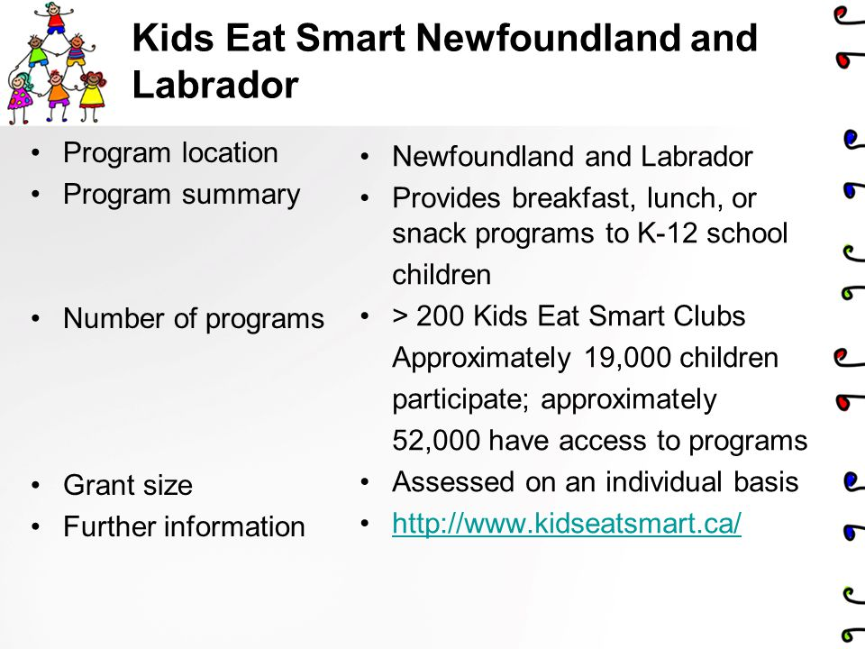 Kids Eat Smart Newfoundland and Labrador