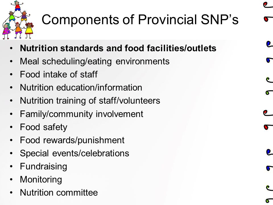 Components of Provincial SNP's