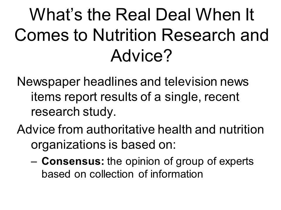 What's the Real Deal When It Comes to Nutrition Research and Advice