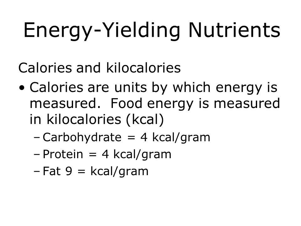 Energy-Yielding Nutrients