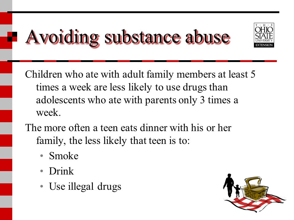 Avoiding substance abuse
